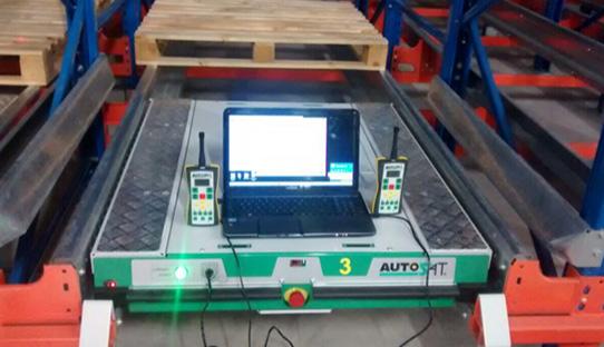 Carro Autosat en preubar de soportable